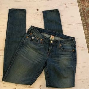 True religion skinny jeans w/flap pocket detail 29